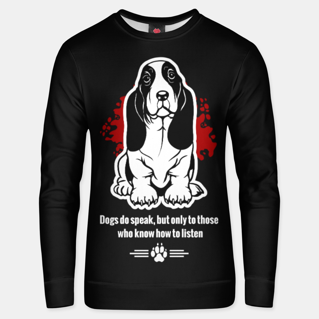 Image of BASSET HOUND - The Special Dog Ever! Unisex sweater - Live Heroes