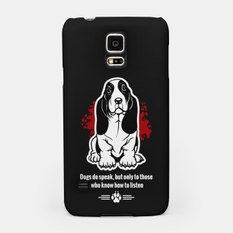 Thumbnail image of BASSET HOUND - The Special Dog Ever! Samsung Case, Live Heroes