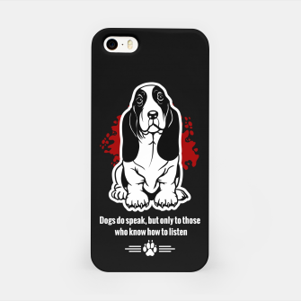 Thumbnail image of BASSET HOUND - The Special Dog Ever! iPhone Case, Live Heroes