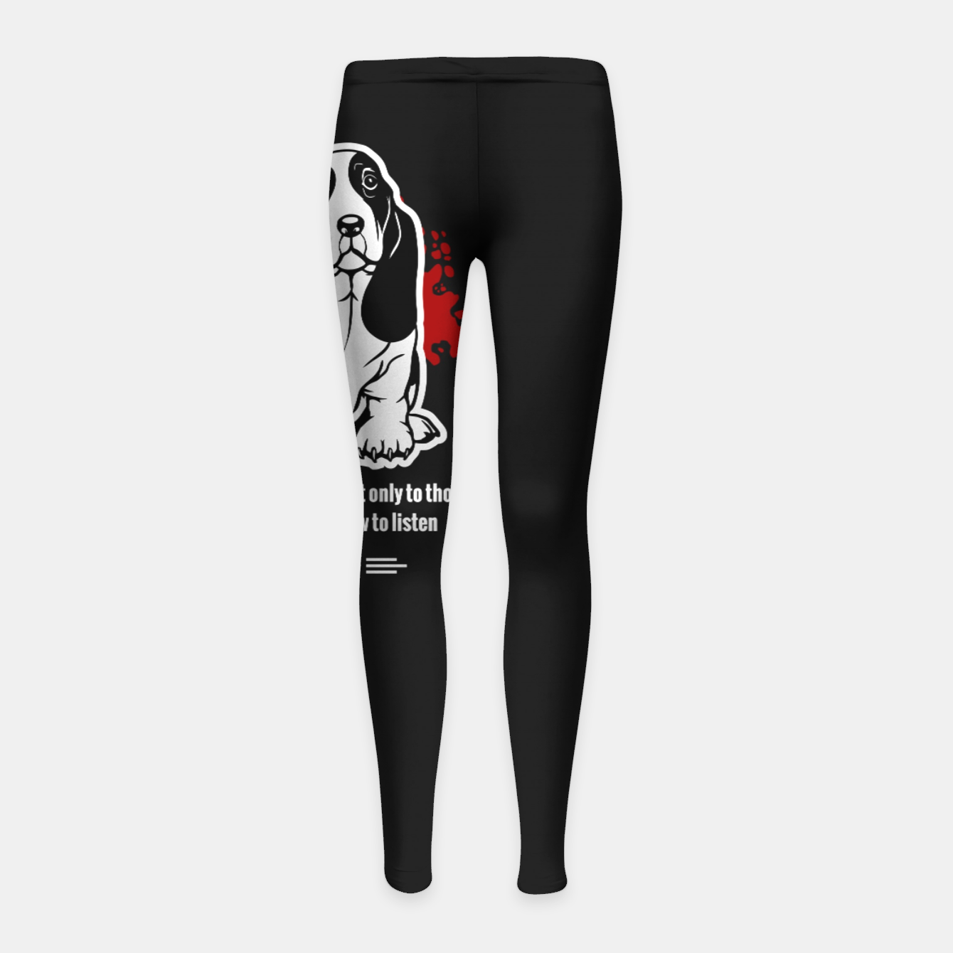 Image of BASSET HOUND - The Special Dog Ever! Girl's leggings - Live Heroes