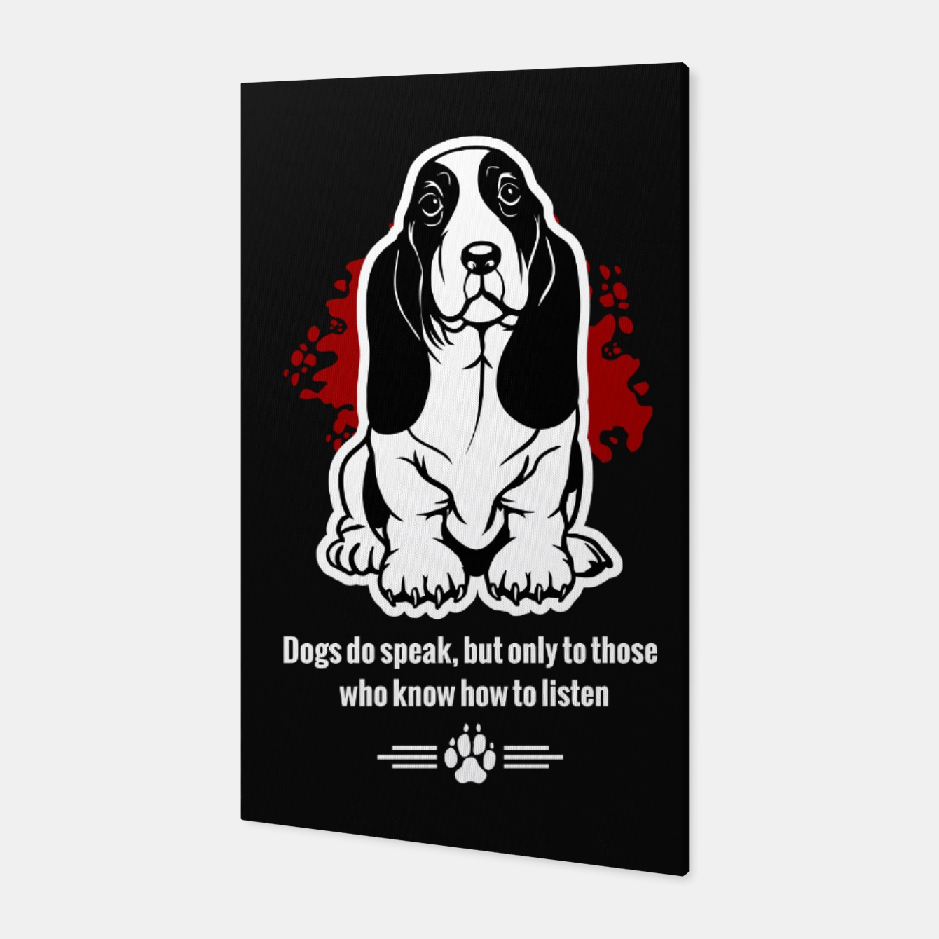 Image of BASSET HOUND - The Special Dog Ever! Canvas - Live Heroes