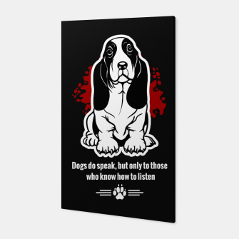 Thumbnail image of BASSET HOUND - The Special Dog Ever! Canvas, Live Heroes