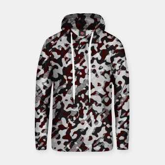 Miniatur Red Pattern Camouflage & Mosaic Style Kapuzenpullover, Live Heroes