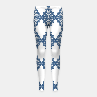 Spanish Blue mosaic  Leggings para niña miniature