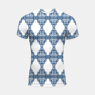 Spanish Blue mosaic  Shortsleeve rashguard miniature