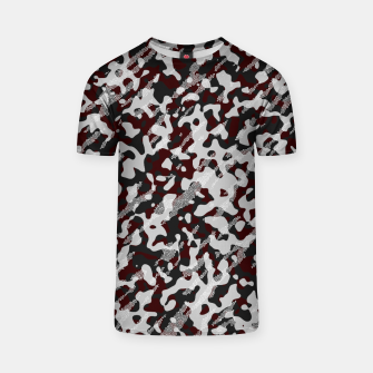 Thumbnail image of Red Pattern Camouflage & Mosaic Style T-Shirt, Live Heroes