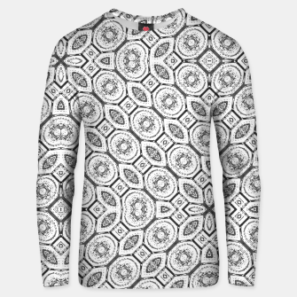 Thumbnail image of Black and White Baroque Ornate Print Pattern Unisex sweater, Live Heroes
