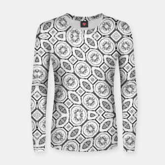 Thumbnail image of Black and White Baroque Ornate Print Pattern Women sweater, Live Heroes