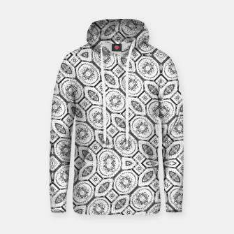 Thumbnail image of Black and White Baroque Ornate Print Pattern Hoodie, Live Heroes
