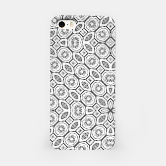 Thumbnail image of Black and White Baroque Ornate Print Pattern iPhone Case, Live Heroes