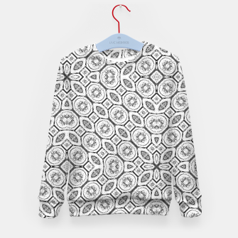 Thumbnail image of Black and White Baroque Ornate Print Pattern Kid's sweater, Live Heroes