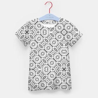 Thumbnail image of Black and White Baroque Ornate Print Pattern Kid's t-shirt, Live Heroes