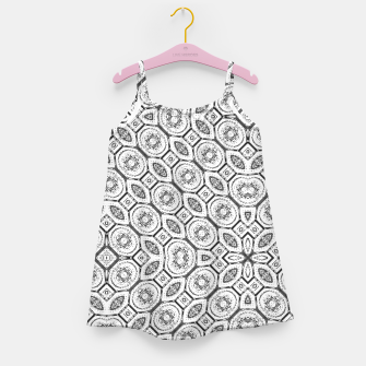 Thumbnail image of Black and White Baroque Ornate Print Pattern Girl's dress, Live Heroes