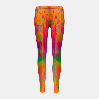 Thumbnail image of Psychedelic Spill 19 Girl's leggings, Live Heroes
