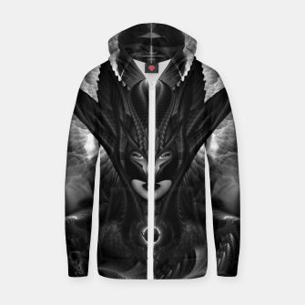 Miniatur Taidushan Sai The Talons Of Time Black Sun Fractal Portrait Zip up hoodie, Live Heroes