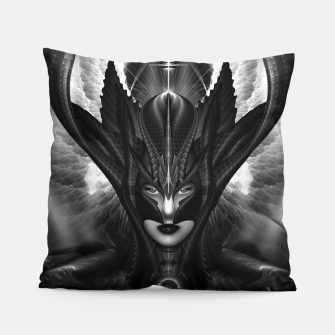Miniatur Taidushan Sai The Talons Of Time Black Sun Fractal Portrait Pillow, Live Heroes