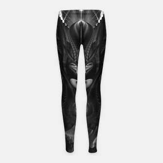 Miniatur Taidushan Sai The Talons Of Time Black Sun Fractal Portrait Girl's leggings, Live Heroes