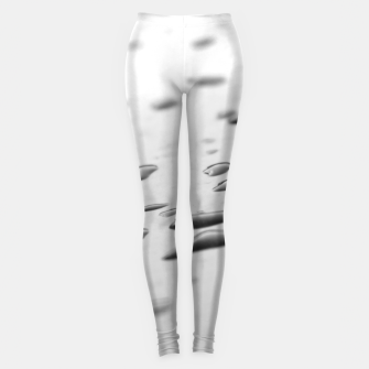 Thumbnail image of After the rain, rain drops leaking on a smooth surface, black and white photography Leggings, Live Heroes