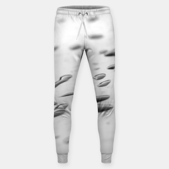 Thumbnail image of After the rain, rain drops leaking on a smooth surface, black and white photography Sweatpants, Live Heroes
