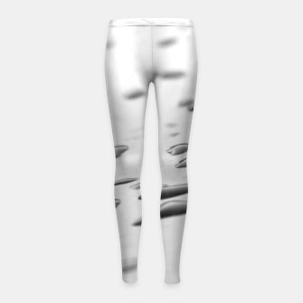 Thumbnail image of After the rain, rain drops leaking on a smooth surface, black and white photography Girl's leggings, Live Heroes
