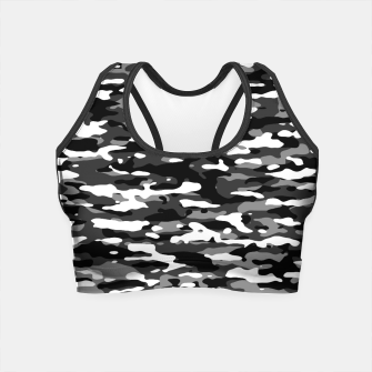 Miniatur Snow Camouflage Pattern Crop Top, Live Heroes