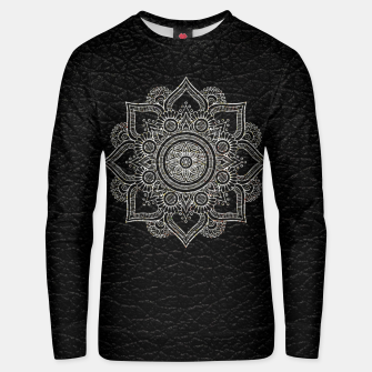 Thumbnail image of Black and White Traditional Bohemian Moroccan Artwork. Unisex sweater, Live Heroes