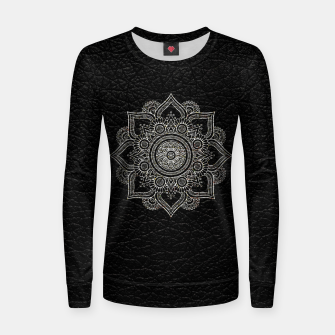 Thumbnail image of Black and White Traditional Bohemian Moroccan Artwork. Women sweater, Live Heroes