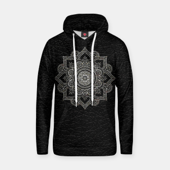 Thumbnail image of Black and White Traditional Bohemian Moroccan Artwork. Hoodie, Live Heroes