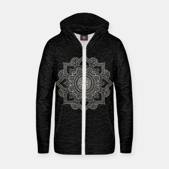 Thumbnail image of Black and White Traditional Bohemian Moroccan Artwork. Zip up hoodie, Live Heroes