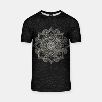 Thumbnail image of Black and White Traditional Bohemian Moroccan Artwork. T-shirt, Live Heroes