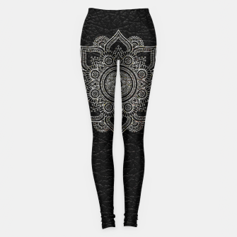 Thumbnail image of Black and White Traditional Bohemian Moroccan Artwork. Leggings, Live Heroes