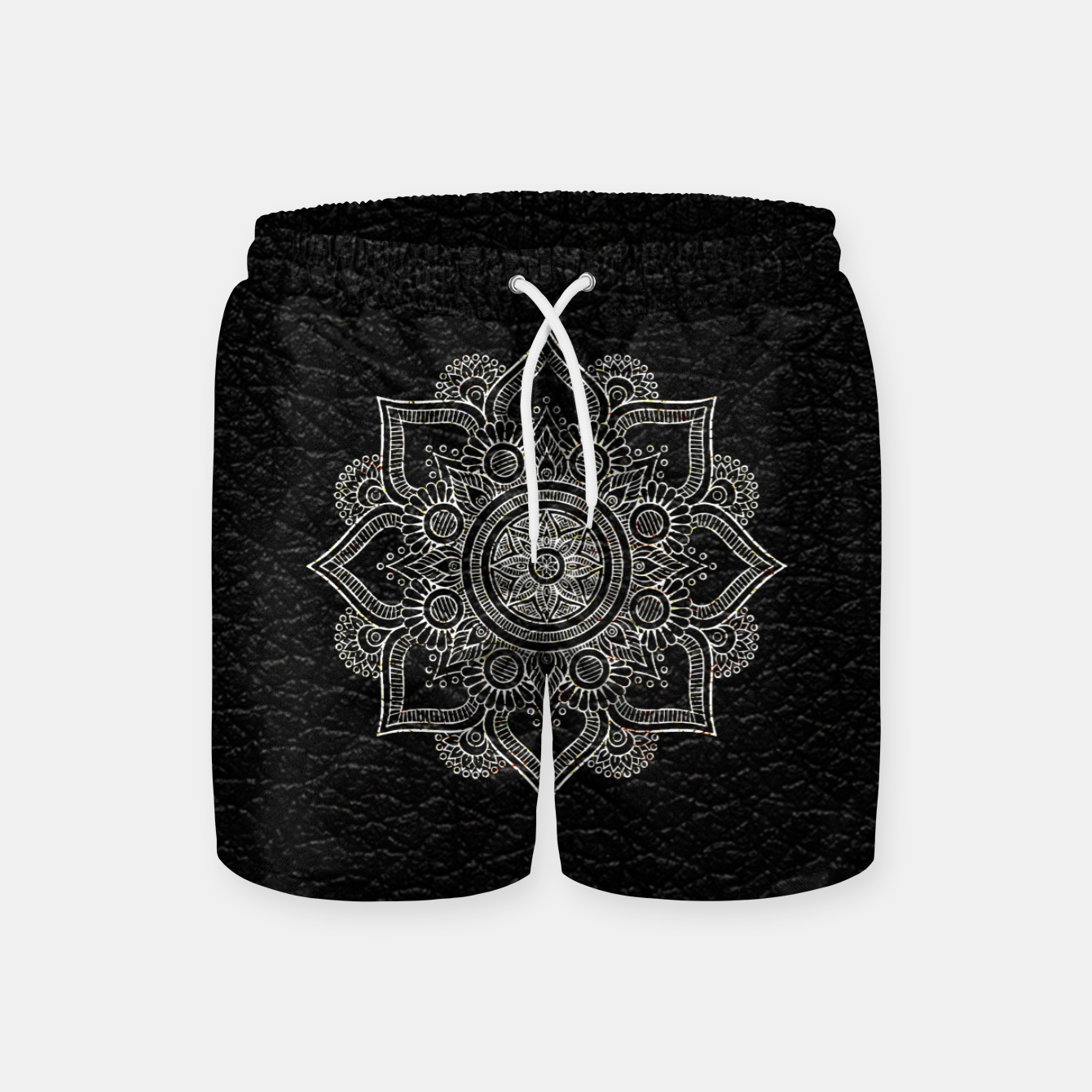 Image of Black and White Traditional Bohemian Moroccan Artwork. Swim Shorts - Live Heroes