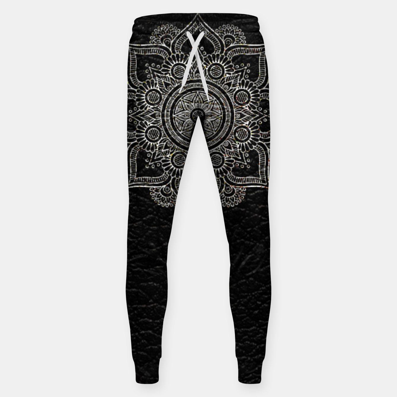 Image of Black and White Traditional Bohemian Moroccan Artwork. Sweatpants - Live Heroes
