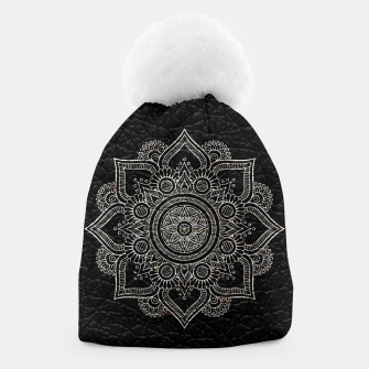Thumbnail image of Black and White Traditional Bohemian Moroccan Artwork. Beanie, Live Heroes