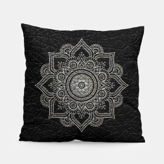 Thumbnail image of Black and White Traditional Bohemian Moroccan Artwork. Pillow, Live Heroes