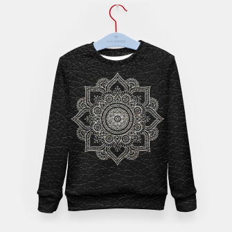 Thumbnail image of Black and White Traditional Bohemian Moroccan Artwork. Kid's sweater, Live Heroes