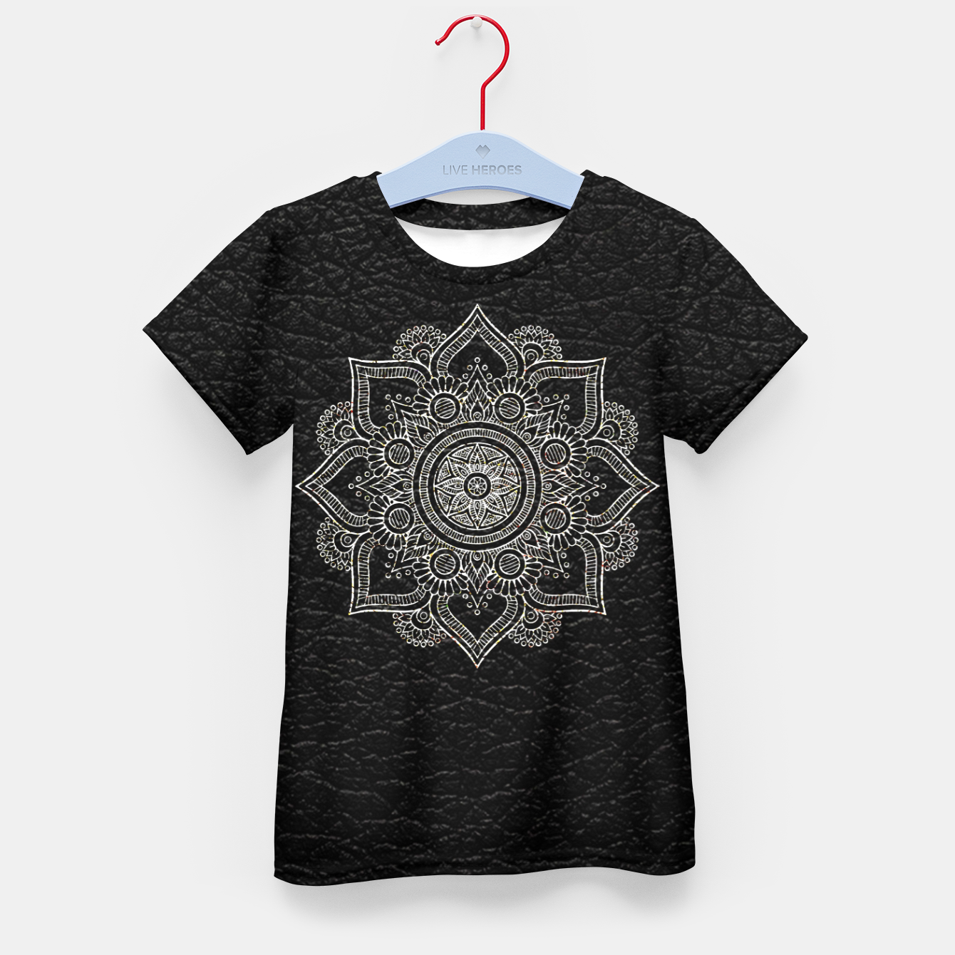 Image of Black and White Traditional Bohemian Moroccan Artwork. Kid's t-shirt - Live Heroes