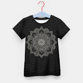 Thumbnail image of Black and White Traditional Bohemian Moroccan Artwork. Kid's t-shirt, Live Heroes
