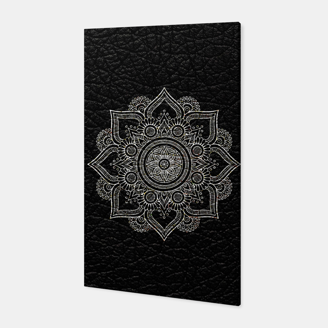 Image of Black and White Traditional Bohemian Moroccan Artwork. Canvas - Live Heroes