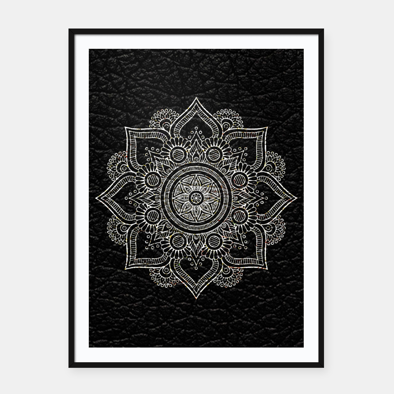 Image of Black and White Traditional Bohemian Moroccan Artwork. Framed poster - Live Heroes