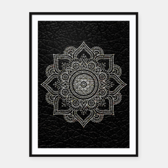 Thumbnail image of Black and White Traditional Bohemian Moroccan Artwork. Framed poster, Live Heroes