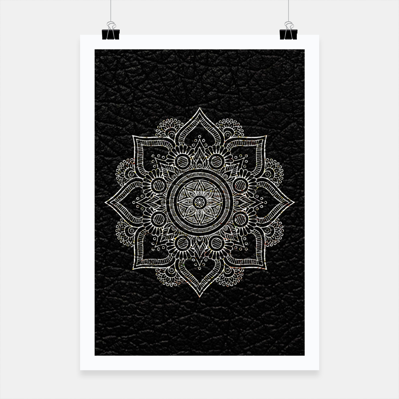Image of Black and White Traditional Bohemian Moroccan Artwork. Poster - Live Heroes