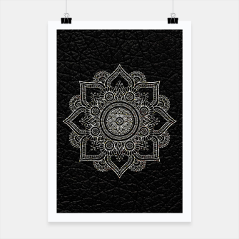Thumbnail image of Black and White Traditional Bohemian Moroccan Artwork. Poster, Live Heroes