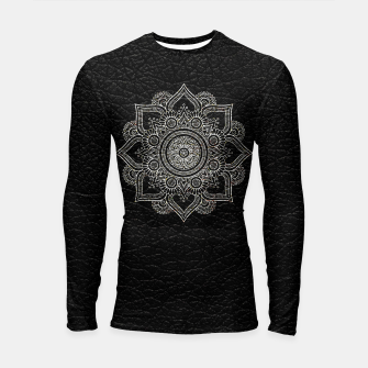 Thumbnail image of Black and White Traditional Bohemian Moroccan Artwork. Longsleeve rashguard , Live Heroes