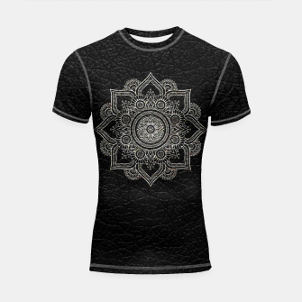 Thumbnail image of Black and White Traditional Bohemian Moroccan Artwork. Shortsleeve rashguard, Live Heroes