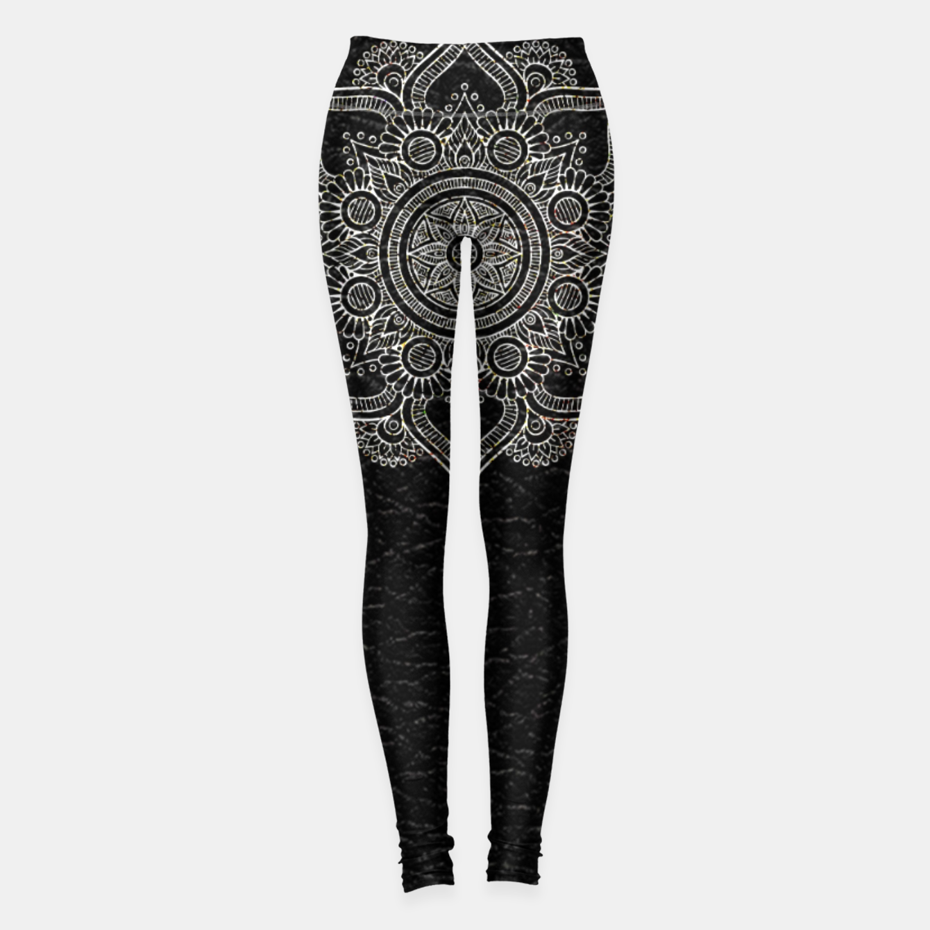 Image of Black and White Traditional Bohemian Moroccan Artwork. Leggings - Live Heroes