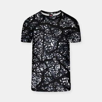 Black and White Dark Abstract Texture Print T-shirt obraz miniatury