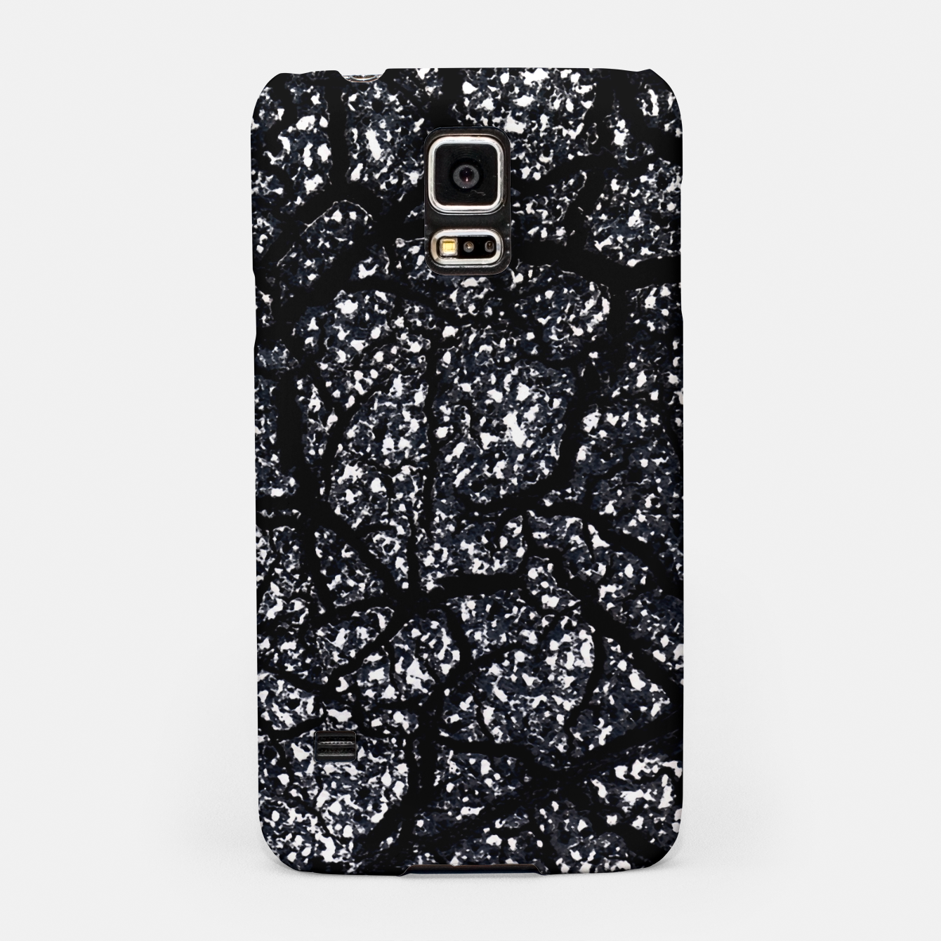 Zdjęcie Black and White Dark Abstract Texture Print Samsung Case - Live Heroes