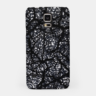 Miniatur Black and White Dark Abstract Texture Print Samsung Case, Live Heroes