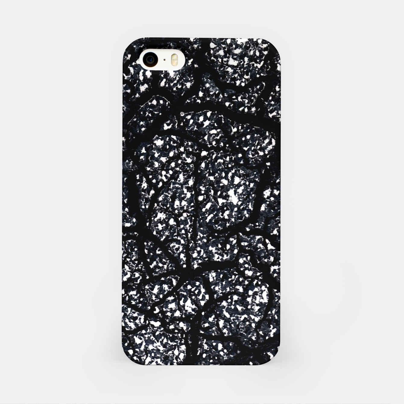 Zdjęcie Black and White Dark Abstract Texture Print iPhone Case - Live Heroes